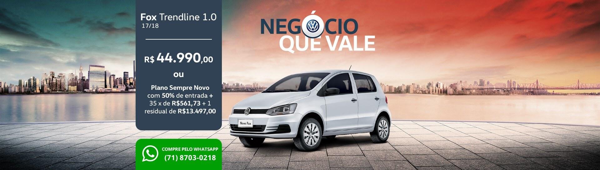 Negócio que Vale - Fox - Sanave Volkswagen