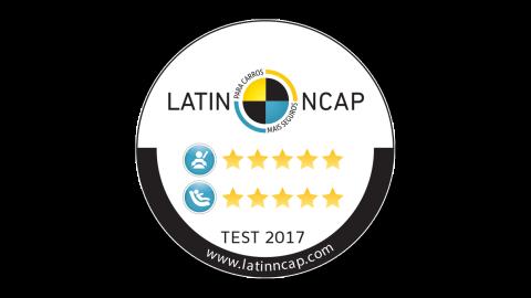 Classificação máxima na avaliação: 5 estrelas na proteção para adultos e cinco estrelas para proteção para crianças